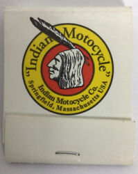 Vintage Rare Indian Motorcycle Co. Springfield Mass. Matchbook Matches Match