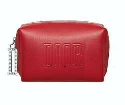 DIOR Beauty Logo red small Cosmetic Makeup Bag clutch Pouch case TROUSSE NEW $33.89