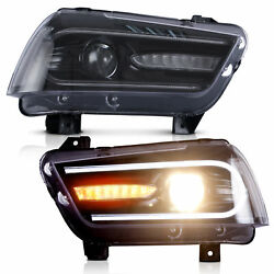For Dodge Charger 20112014 Led Sequential Headlight Projector Left And Right