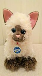 Build A Bear Promise Pets Siamese Cat Himalayan Plush Cream Brown Blue Eyes 12quot;