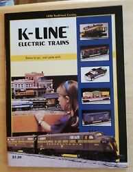Vintage 1996 Traditional Catalog K Line Electric Trains Railroad Toy Enthusiast