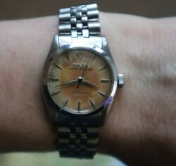 Vintage Rolex Oyster-speedking Precision 6421 Wrist Watch Tropical Dial Unusual