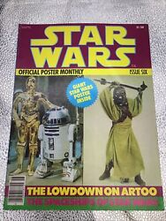 Vtg Star Wars Official Poster Monthly Magazine 6 C-3po 1970and039s
