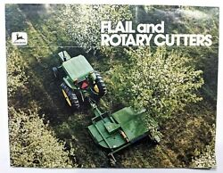John Deere Vintage Color Brochure Flail And Rotary Cutters Shredders 70s 80s