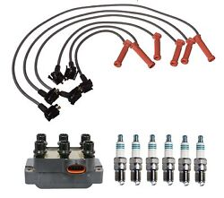 Denso Ignition Coil Wire Set And 6 Iridium Power Spark Plugs Kit For Ford 4.0l V6