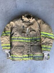 Firefighter Globe Turnout Bunker Coat 43x29 G-xtreme 2008 No Cut Out