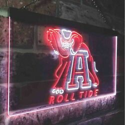 Hq Colorful Alabama Roll Tide Led Neon Sign - 16 X 12
