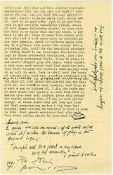 Patti Smith Signed Broadside Notes Pour Java Head / 1973