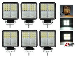 Led Work Square Lights X6 White And Amber Drl Cross Fits John Deere Valtra Tractor