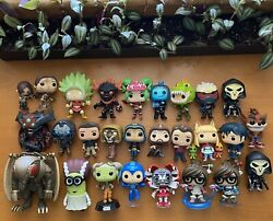 Huge Funko Pop Games Animation Movies Oob Loose 23pc Lot Overwatch Fortnite More