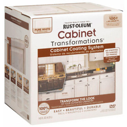 Rust-oleum Cabinet Paint Transformations Acrylic 1 Qt. Pure White Small Kit New