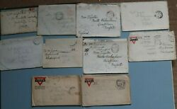 World War 1 Front Line Soldiers Letters To Mother Original Envelope Lot Ww1 Rare
