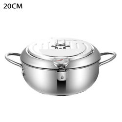 Kitchen Home Cooking Tools Deep Fryer Fried Chicken Temperature Control With Lid