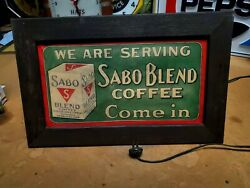 1920's Sabo Coffee Sign Country Store See My Other Porcelain Neon Signs Tea