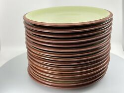 Set Of 15 Denby Juice Dinner Plate 10.5 Inches