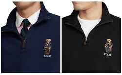 Nwt Menand039s Polo Preppy Bear Cotton Quarter-zip Pullover Msrp 110