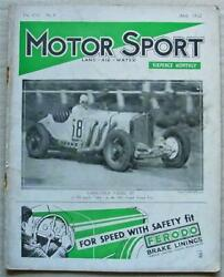 Motor Sport Magazine Apr 1932 Rolls Royce Continental Crossley Abbey Magna Coupe