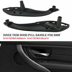 Pair For Bmw F30 F80 F31 Front Left And Right Inner Trim Door Pull Handle Black