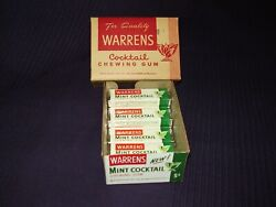 7 Vintage Packs Of Bowman Chewing Gum Candy, Sealed 1947 + Display Box Pack Wow