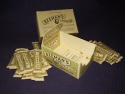 40 Vintage Ww2 Stick Beeman's Chewing Gum Candy + Display Box Free Sample Wwii