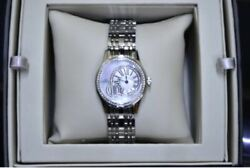 Rare Marvin Watches Canddeg1850 Dial Shell Diamond Unisex Watch Swiss Made With Box