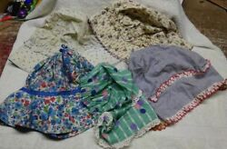 Lot Of 5 Diff - Vintage - Ladies Bonnets - Old Feed Bags - Amish Style