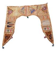Handmade Toran Gate Embroidered Topper Door Hanging Valance Indian Traditional