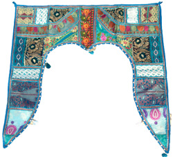 Gate Deco Traditional Toran Embroidered Topper Door Hanging Valance Indian