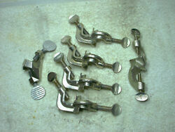 Lot Of 6 / 4 Fisher Precision Mf Chrome Clamp Laboratory 59-520 ++ 2 Various