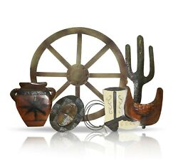 Metal Western Wall Décor 32 by 23quot; Farmhouse Rustic Home Decor Living room