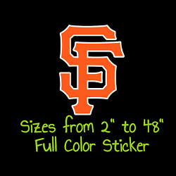 San Francisco Giants Full Color Vinyl Decal | Hydroflask Decal Cornhole Decal 4