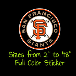 San Francisco Giants Full Color Vinyl Decal | Hydroflask Decal Cornhole Decal 1