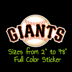 San Francisco Giants Full Color Vinyl Decal | Hydroflask Decal Cornhole Decal 3