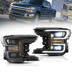 Led Sequential Front Headlight Left And Right Pair Set For Ford F-150 20182020