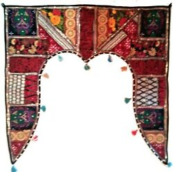 Valance Indian Gate Deco Traditional Toran Embroidered Topper Door Hanging