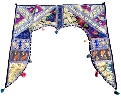 Indian Gate Deco Valance Traditional Toran Embroidered Topper Door Hanging