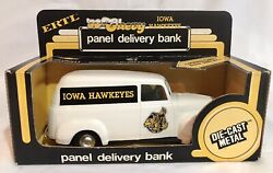 New Rare Vintage Ertl 50 Chevy Iowa Hawkeyes Panel Delivery Bank Metal Truck Box