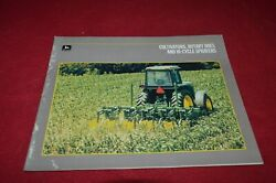 John Deere Cultivators Rotary Hoes And Hi-cycles Sprayers For 1987 Brochure Base