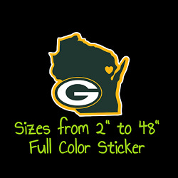 Green Bay Packers Full Color Vinyl Decal | Hydroflask Decal | Cornhole Decal 5