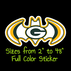 Green Bay Packers Full Color Vinyl Decal | Hydroflask Decal | Cornhole Decal 7