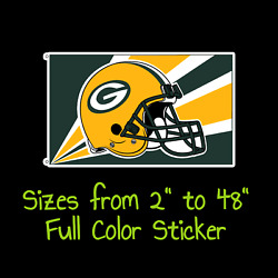 Green Bay Packers Full Color Vinyl Decal | Hydroflask Decal | Cornhole Decal 2
