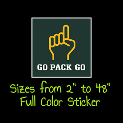 Green Bay Packers Full Color Vinyl Decal | Hydroflask Decal | Cornhole Decal 1