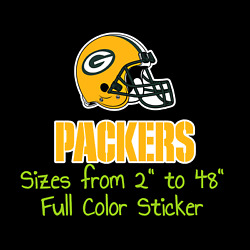 Green Bay Packers Full Color Vinyl Decal | Hydroflask Decal | Cornhole Decal 9