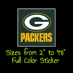 Green Bay Packers Full Color Vinyl Decal | Hydroflask Decal | Cornhole Decal 8