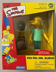 The Simpsons Toyfare Exclusive Mail Away Figure Pin Pal Mr Burns Mib