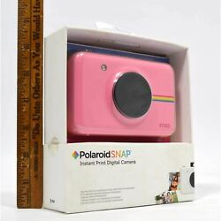 New Open Box Polaroid Snap Pink Instant Print Digital Camera Complete In Box