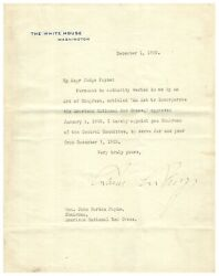 Calvin Coolidge - Typed Letter Signed - Appoints Head Of American Red Cross