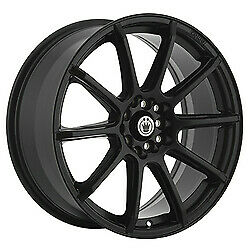 16x7 Konig 45b Control Black Wheels 5x100/5x4.5 40mm Set Of 4