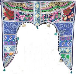 Toran Gate Deco Indian Traditional  Embroidered Valance Topper Door Hanging