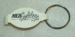Vintage Michelob Golden Light Draft Beer Opener And Key Chain, White Plastic